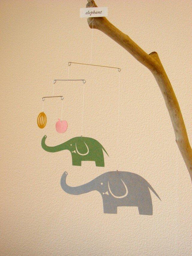 miniモビール「ゾウ」その1の画像1枚目