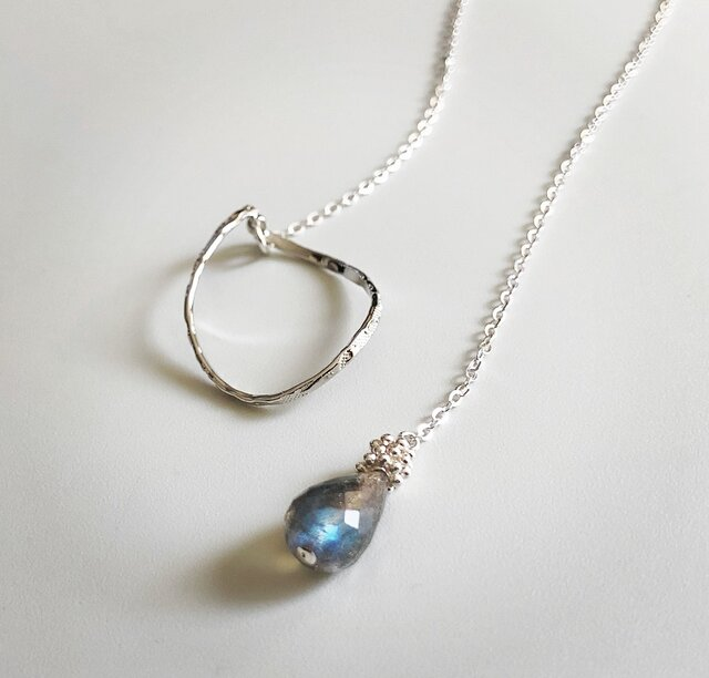 labradorite*silver necklaceの画像1枚目