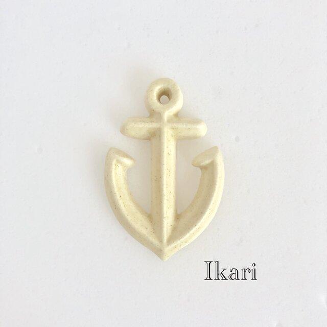 Ikari 生成り : 陶器 : ブローチの画像1枚目