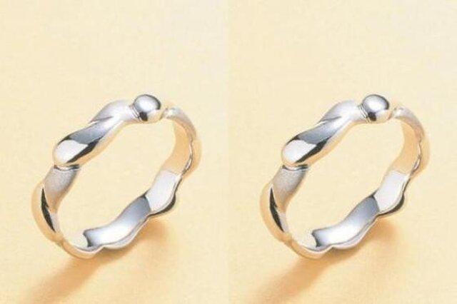 ハンドメイド結婚指輪☆ぽってり可愛い滴&雫(しずく)の画像1枚目