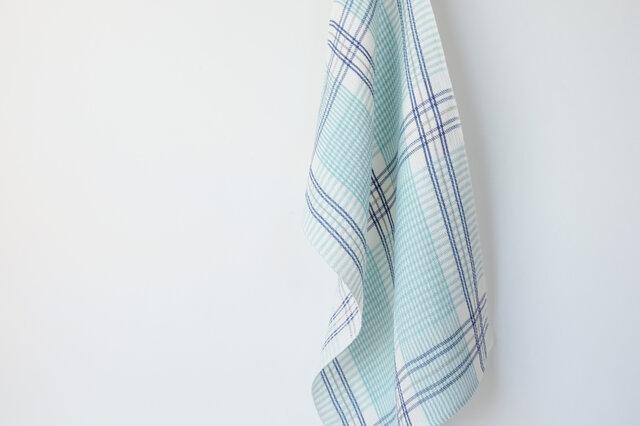 手織りリネンクロス【L-Check*01】の画像1枚目