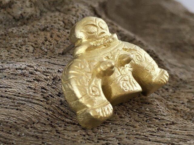 岩偶 土偶 真鍮ピンバッジ/タイタックの画像1枚目