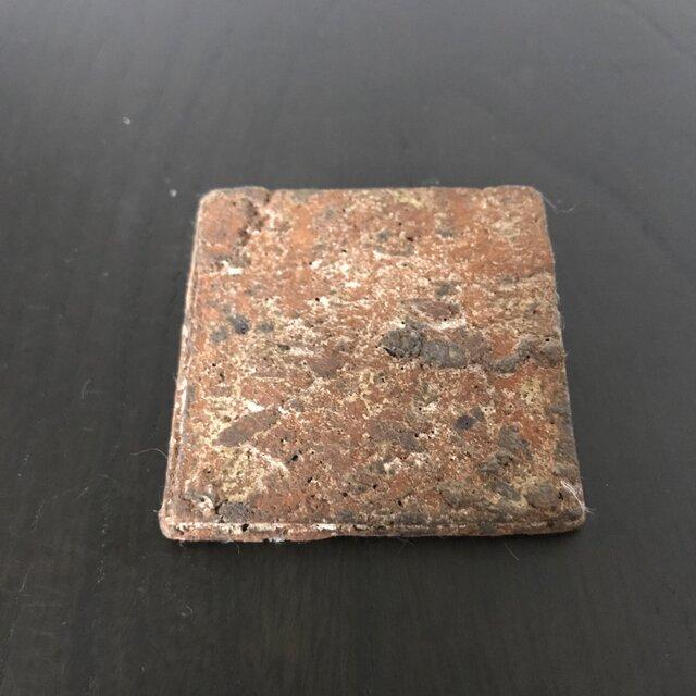 焼締ブローチ「square」の画像1枚目