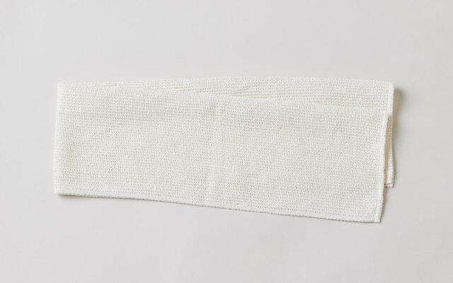 リネンニットのメッシュタオル|ホワイトの画像1枚目