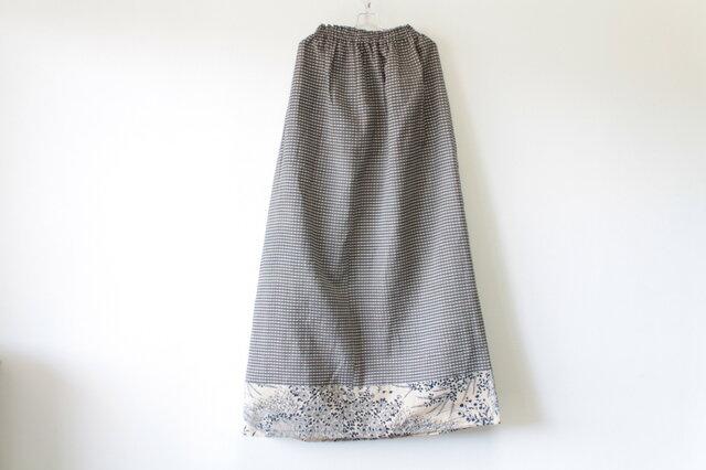 ☆浴衣ロングスカート☆茶色パッチワーク♪/31ys41の画像1枚目