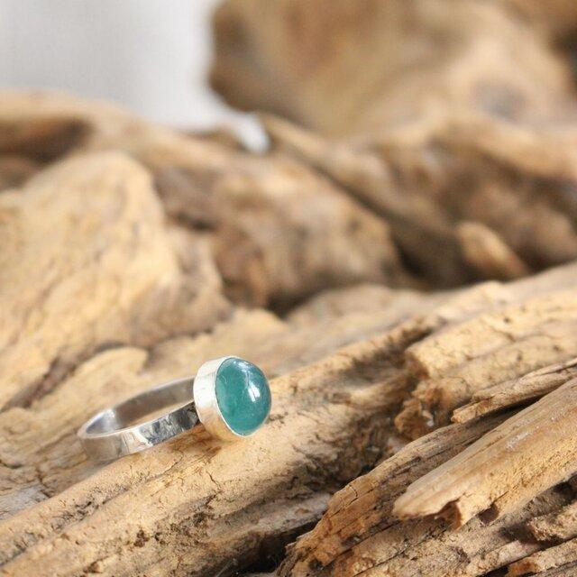 Grandidierite Ring 希少石グランディディエライトのリング Silver925 #11.5号の画像1枚目