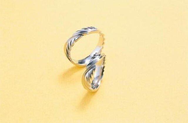 ハンドメイド結婚指輪☆Eagle Feather~イーグルの羽の画像1枚目