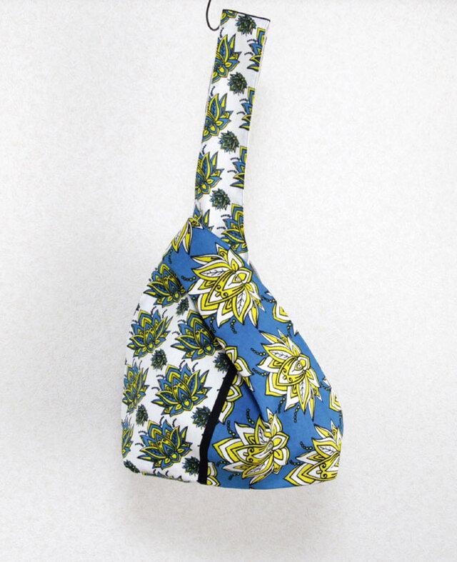 アフリカ布バッグ / カンガのノットバッグの画像1枚目