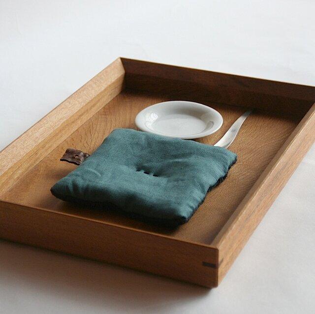Pot Mat  [緑青ろくしょう]リネンの画像1枚目