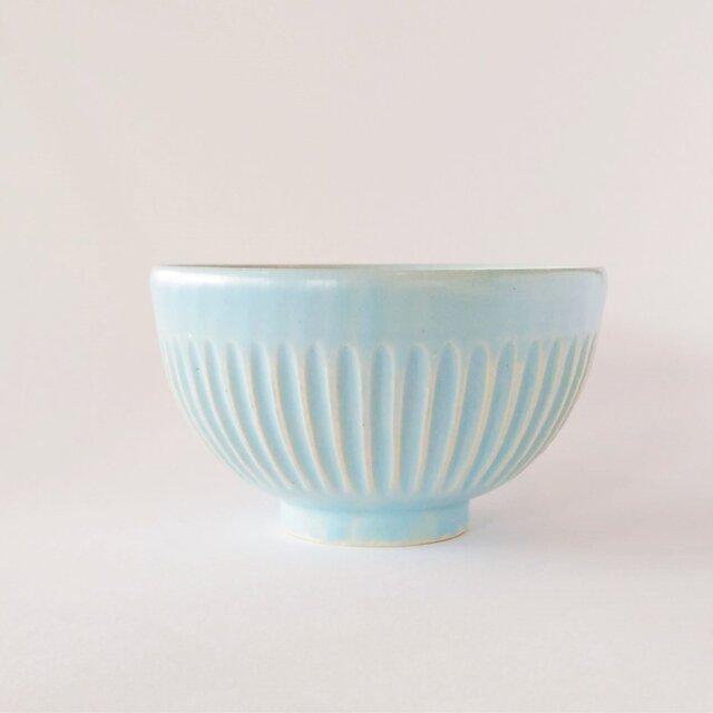 しのぎのご飯茶碗(パステルブルー)の画像1枚目