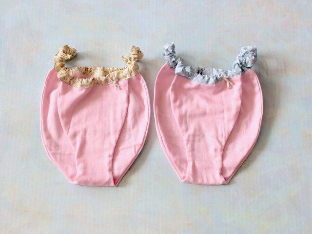 ガーゼのショーツ【ピンク】日本製ノンホルマリンダブルガーゼの画像1枚目