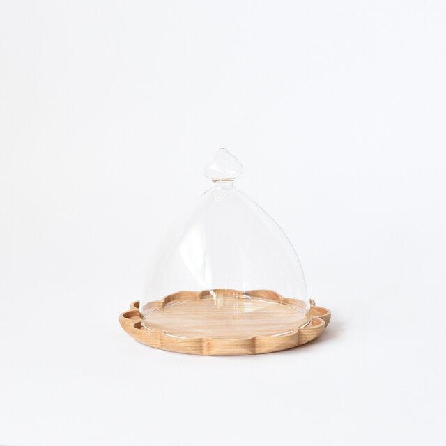 トレーL+ガラスドームの画像1枚目