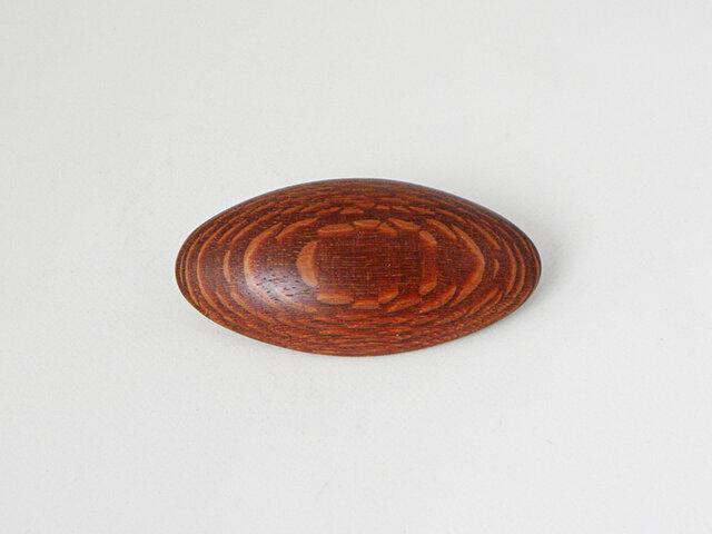 ブローチ -ビーフウッド楕円-の画像1枚目