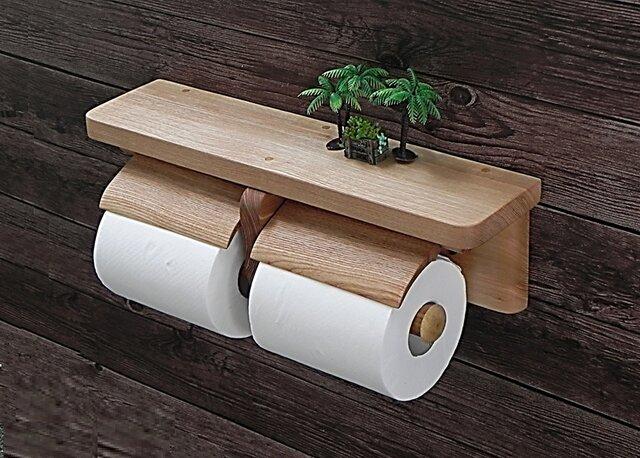 木製トイレットペーパーホルダーVer.13(アッシュ無垢材)の画像1枚目
