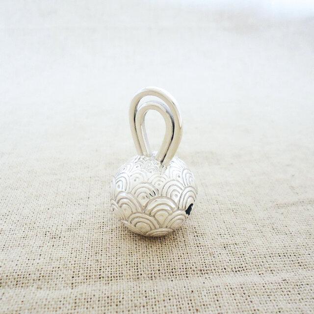 卓上の鈴 『 青海波 』 銀製(シルバー925)の画像1枚目