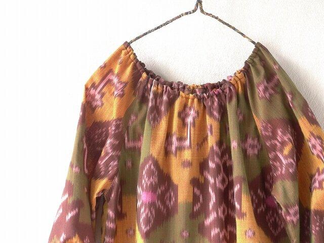 バリ絣織りのふんわりチュニックの画像1枚目
