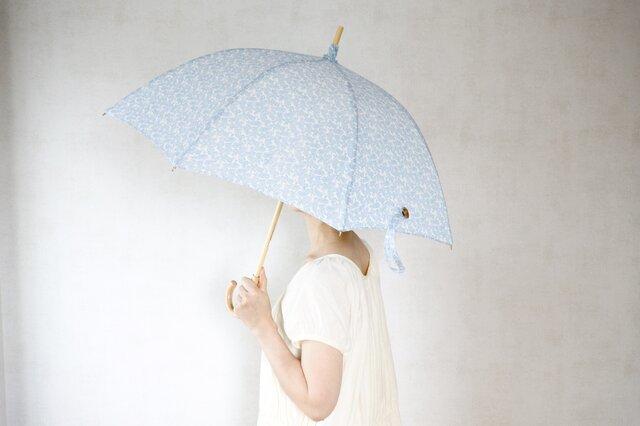 リネン日傘 勾玉の画像1枚目