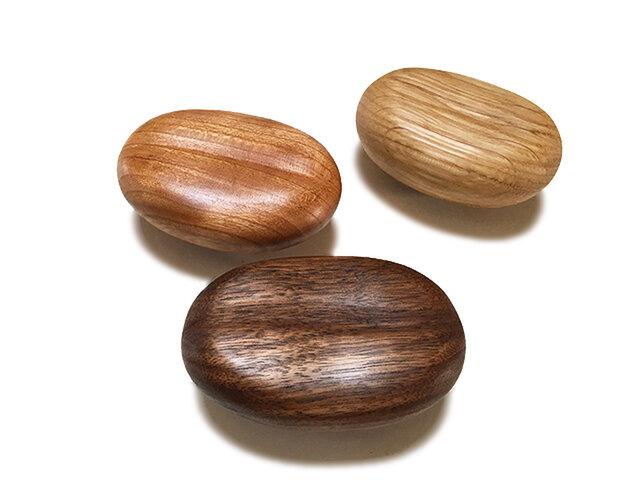 木製コートハンガー/3個/コーヒー豆型 HS-CM オーク/チェリー/オールナット/チーク【 2700円もお得な3個セット】の画像1枚目