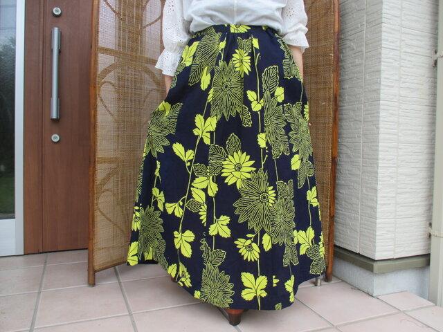 浴衣リメイク ♪ 優雅なフレアースカート ♪の画像1枚目
