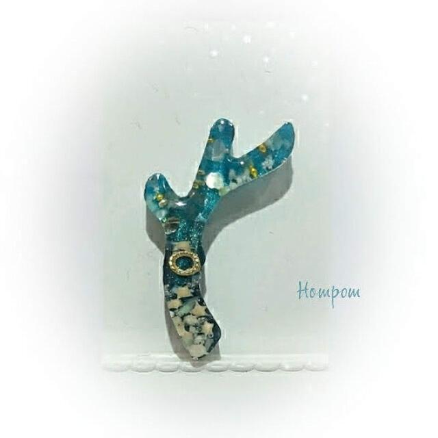 【送料無料】19n004・サンゴのネックレス(エメラルドグリーン) ホムポムの画像1枚目