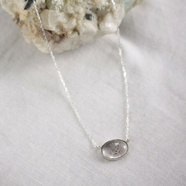 Lepidocrocite in Quartz Necklace レピドクロサイトinクォーツネックレス SV925の画像1枚目