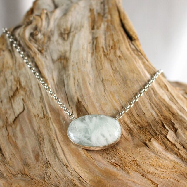 Angel Feather Fluorite Necklace エンジェルフェザーフローライトのネックレス SV925の画像1枚目