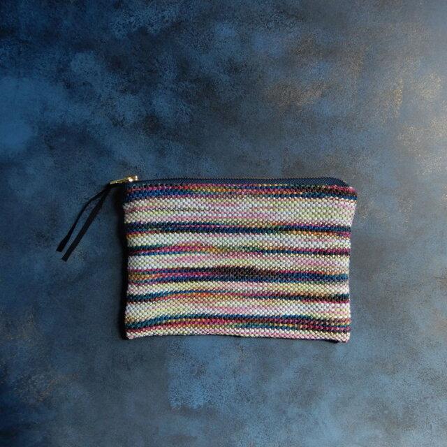 手織りのポーチの画像1枚目