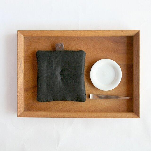 Pot Mat  [リネン]Blackの画像1枚目