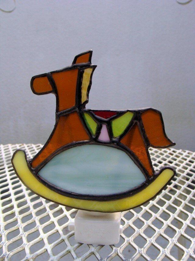 足元ランプ ガラスの木馬の画像1枚目