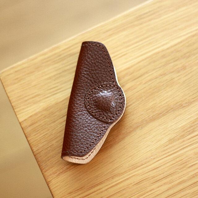 大人の革袋専用持ち手カバー・ブラウン[受注生産品]の画像1枚目