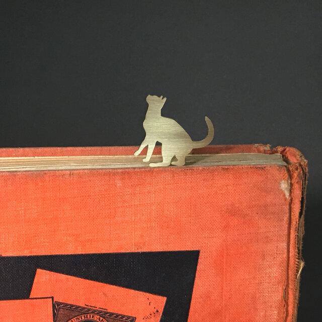 Cat-11 Brass bookMark Largesize(Oder Production) ネコ ブックマークの画像1枚目