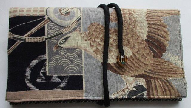 4394 #送料無料 絞りと羽織裏で作った財布・ポーチの画像1枚目