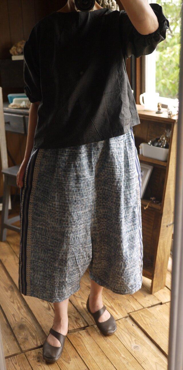 着物紬からサルエル風パンツの画像1枚目