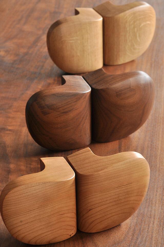 木製ドアハンドル/2本/ドア内外用/DH-VM3 オーク/チェリー/オールナットの画像1枚目