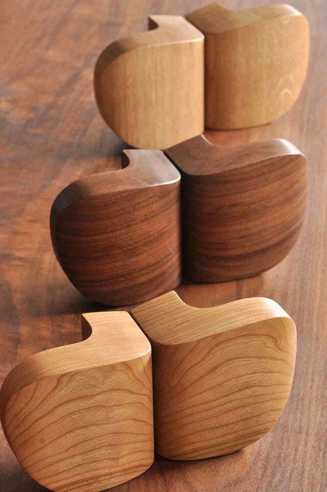 木製ドアハンドル/2本/ドア内外用/DH-VM2 オーク/チェリー/オールナットの画像1枚目