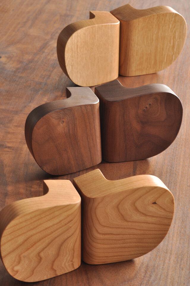 木製ドアハンドル/2本/ドア内外用/DH-VM1 オーク/チェリー/オールナットの画像1枚目