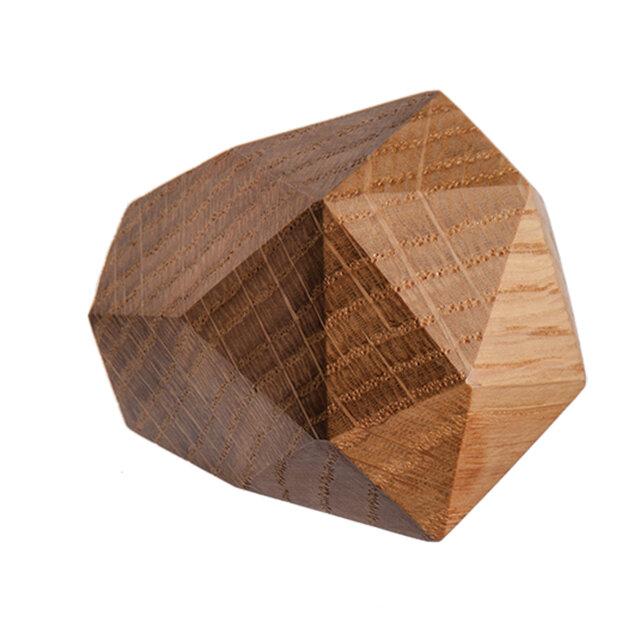 木製コートハンガー/1個/ダイヤモンド型 DK-22M オーク《光が生み出す美しい明暗のグラデーション》の画像1枚目