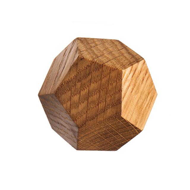 木製コートハンガー/1個/ダイヤモンド型 DK-12M オーク《光が生み出す美しい明暗のグラデーション》の画像1枚目