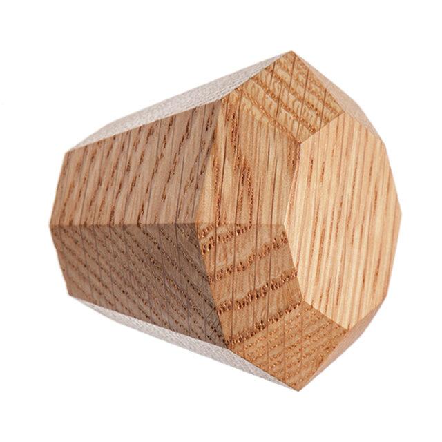 木製コートハンガー/1個/ダイヤモンド型 DK-17L オーク/オールナット 《光が生み出す美しい明暗のグラデーション》の画像1枚目