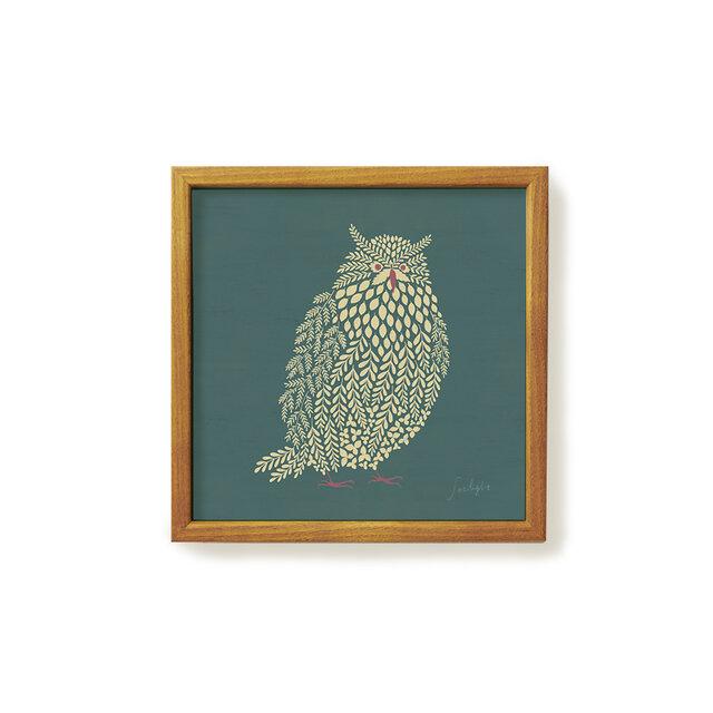 Poster + Frame 20 / Fluffy scops owlの画像1枚目