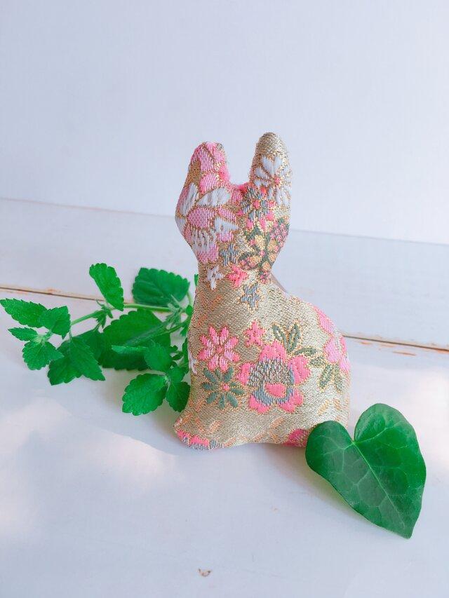 祈りの匂い袋〜香りむすび〜にゃん香  桜柄の画像1枚目