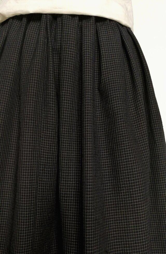 古布木綿リメイク:タックスカートの画像1枚目