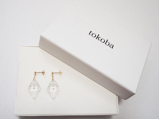 tokoba ピラミッド・ピアスmini 菊つなぎ(K18)の画像1枚目