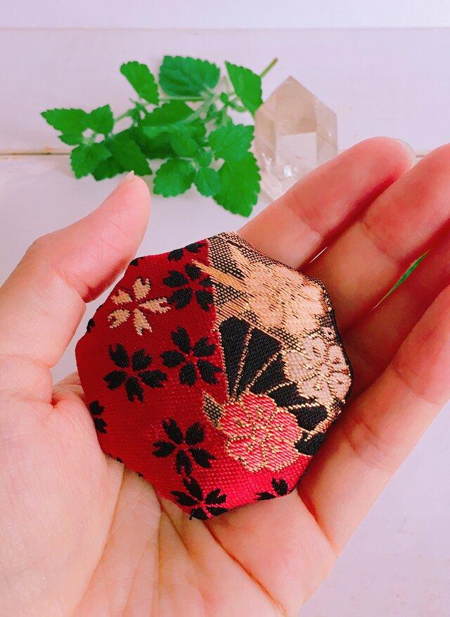 祈りの匂い袋 香りむすび 八角香  赤  扇の画像1枚目