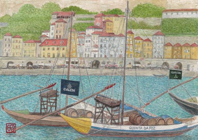 ドウロ川のワイン船の画像1枚目