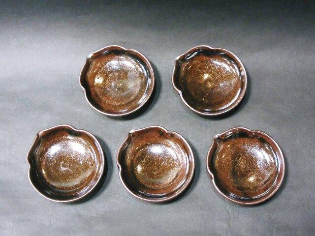 ひょうたん豆皿(天目)の画像1枚目