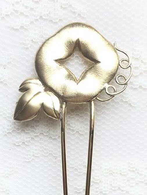 真鍮製かんざし「あさがお」【ho9】の画像1枚目