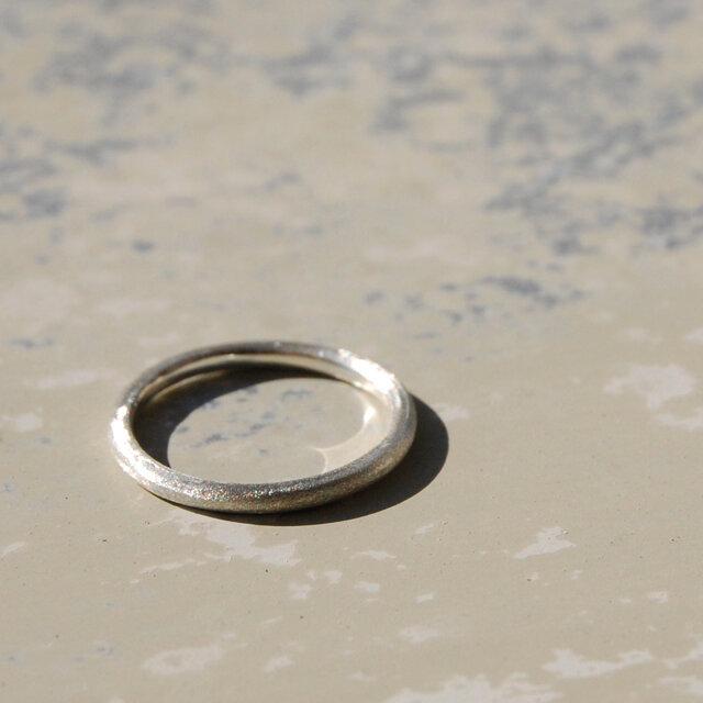 つや消し シルバープレーンリング 1.8mm幅 マット シルバー950 シルバーリング 指輪 シンプル ハンドメイド 119の画像1枚目