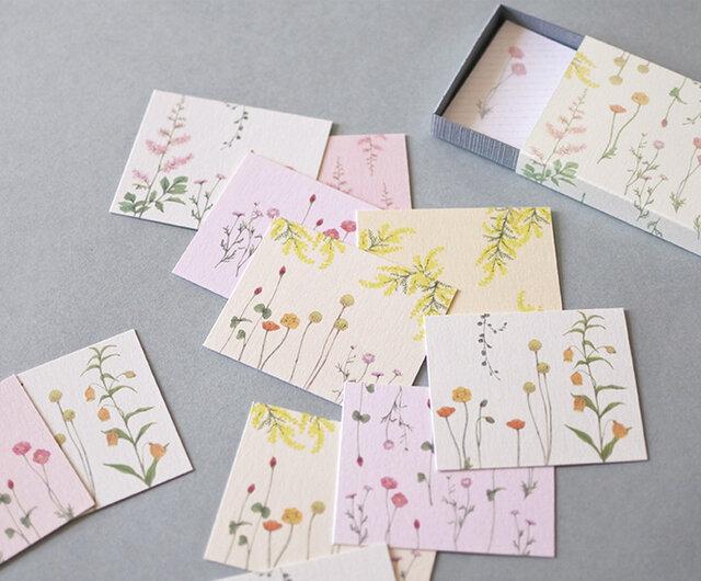 明るい花たちの小さなメッセージカードBOXの画像1枚目