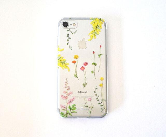 明るい花たちのiPhoneクリアケースの画像1枚目